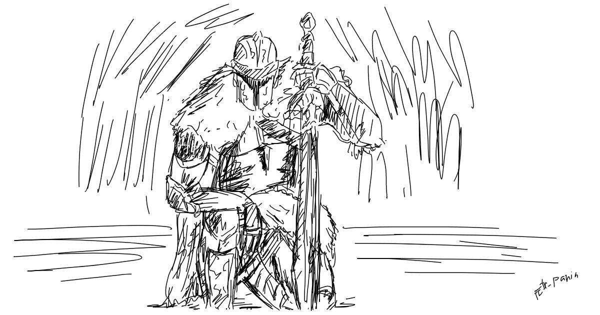 Drawing of Sword by mzr