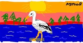 Stork drawing by Astha