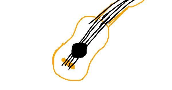 Guitar drawing by KimSeokjin_oppa