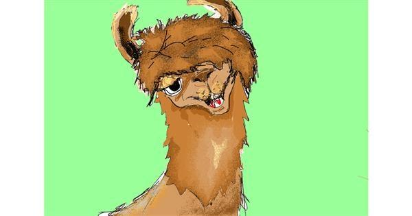 Llama drawing by ThasMe13