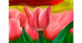 Tulips drawing by Soaring Sunshine