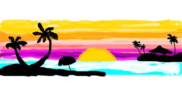 Palm tree drawing by Stacia🍟🍔🍩