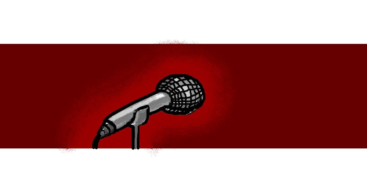 Microphone drawing by Drum