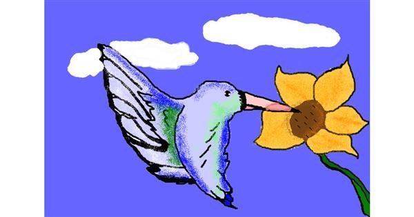 Hummingbird drawing by ooooof👻👻👻