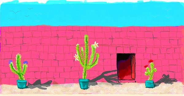 Cactus drawing by Helena