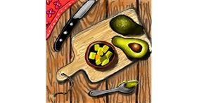 Drawing of Avocado by Leah