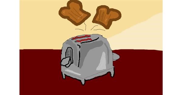Toaster drawing by ooooof👻👻👻