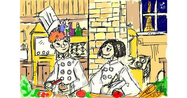 Chef drawing by Boomer