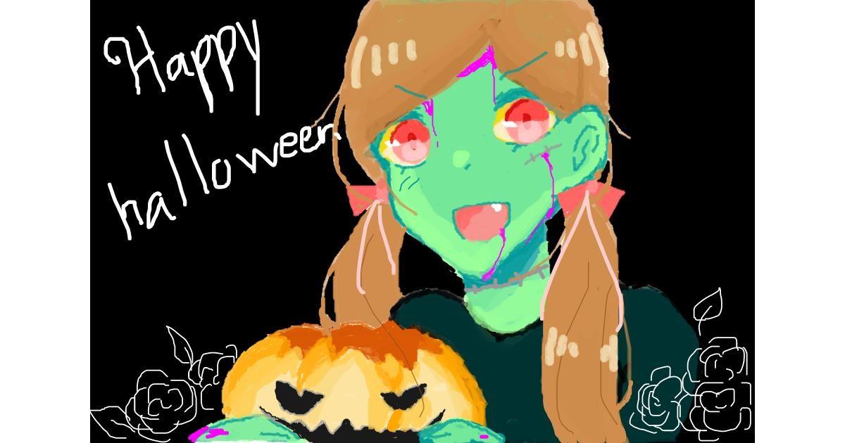 Pumpkin drawing by SacredCross
