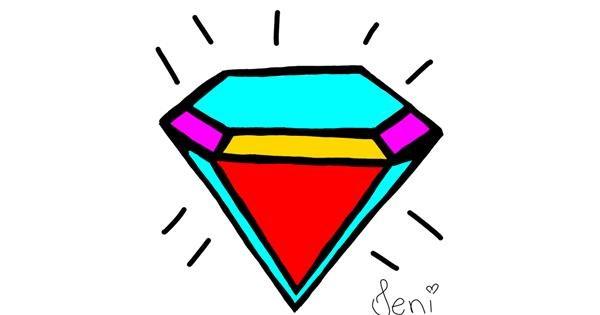 Diamond drawing by Jenifer