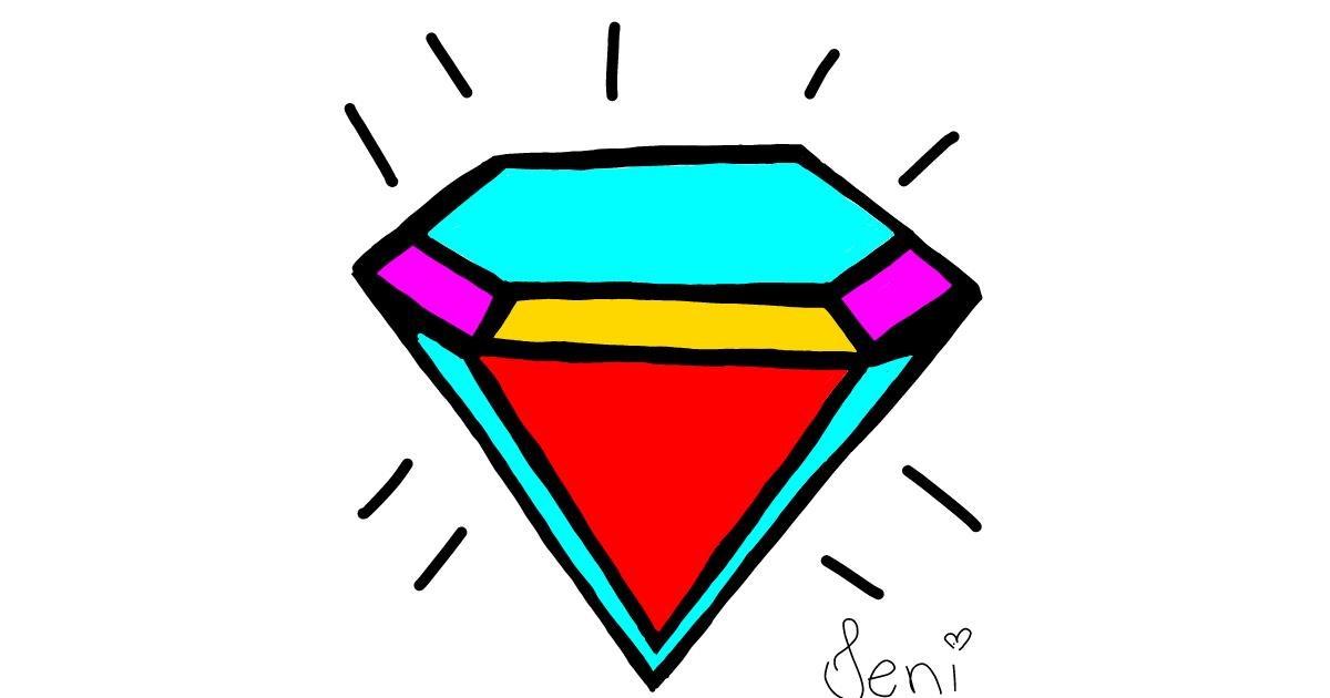 Drawing of Diamond by Jenifer