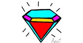 Diamond drawing by Jenifer