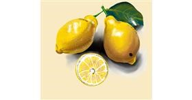 Lemon drawing by Namie