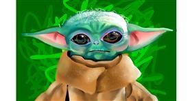 Baby Yoda drawing by Rose rocket