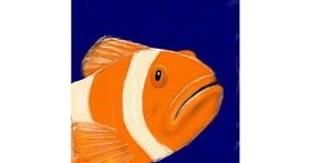 Drawing of Clownfish by ELLE