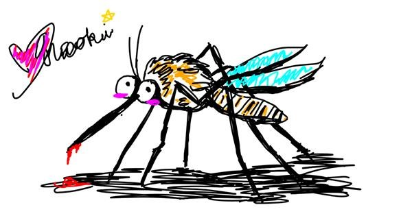 Mosquito drawing by Meowki