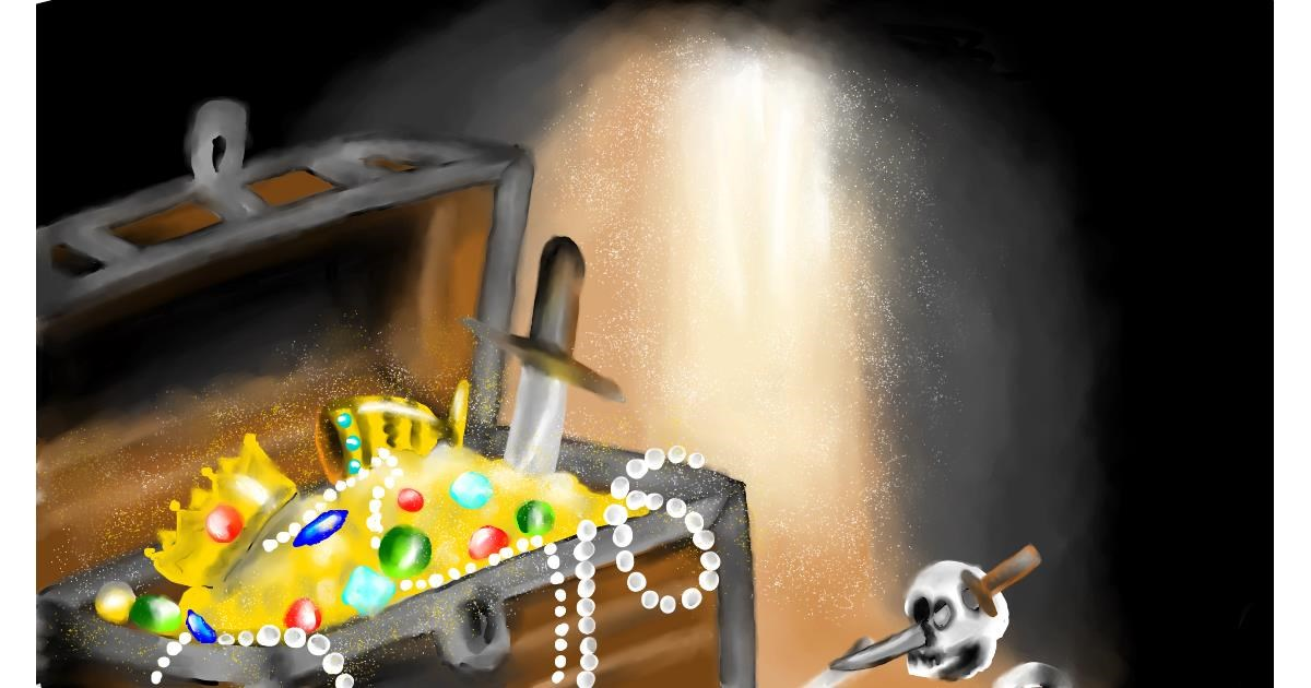 Drawing of Treasure chest by RadiouChka