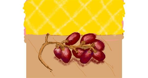 Grapes drawing by Cherri