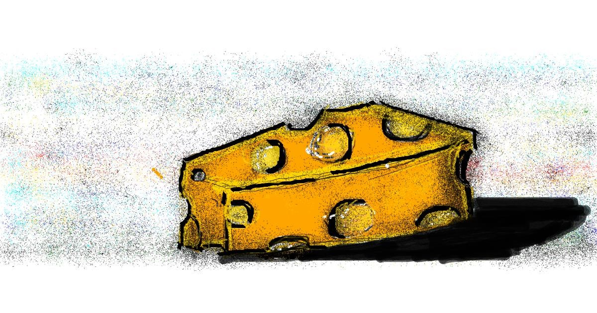 Drawing of Cheese by Angelica