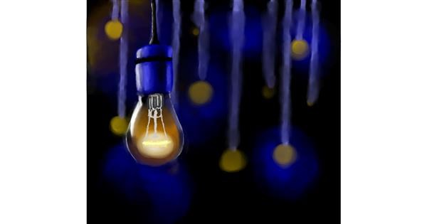 Light bulb drawing by Joze