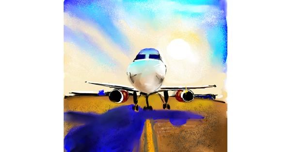 Airplane drawing by Claria