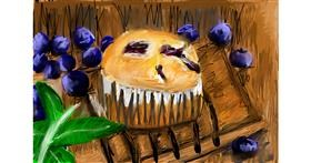 Muffin drawing by Soaring Sunshine