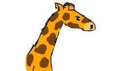 Giraffe drawing by Guest27362
