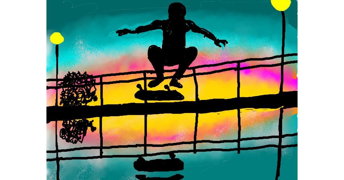Skateboard drawing by SAM AKA MARGARET 🙄