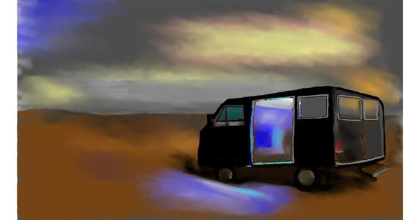 Van drawing by Cec