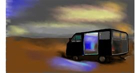 Van drawing by Cec