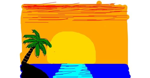 Palm tree drawing by Anonymous