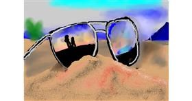 Drawing of Sunglasses by Olivia
