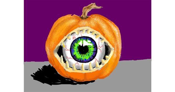 Pumpkin drawing by SAM 🙄AKA Margaret