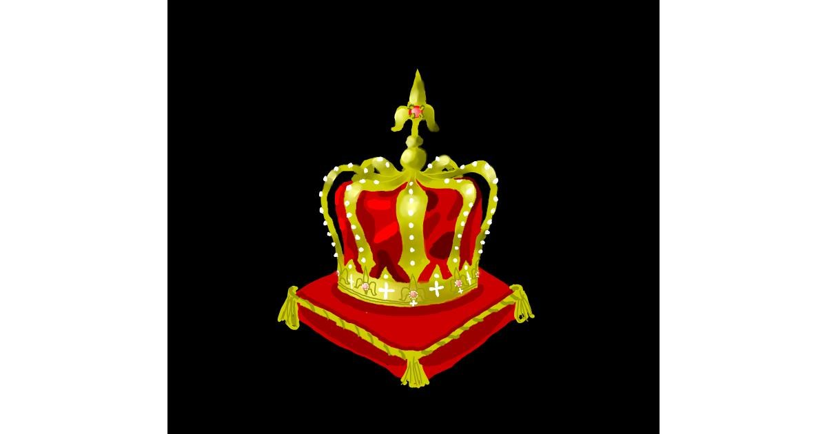 Crown drawing by Joze