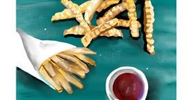 Drawing of French fries by Rose rocket