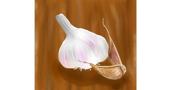 Garlic drawing by Joze