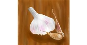 Garlic drawing by Joze