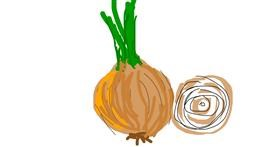 Onion drawing by Firsttry