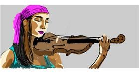 Violin drawing by Helena