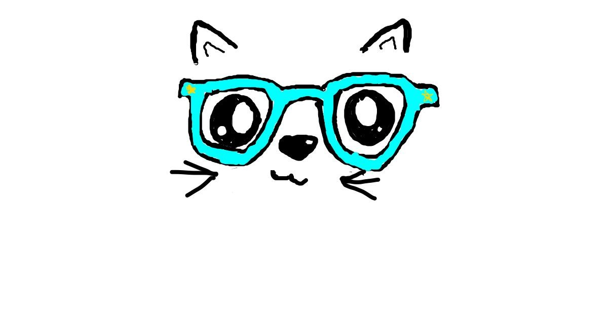 Drawing of Glasses by Gandalf the alpaca🦙