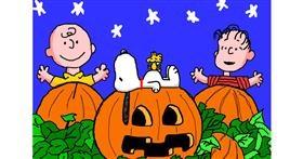 Pumpkin drawing by InessaC