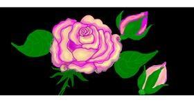 Flower drawing by Debidolittle