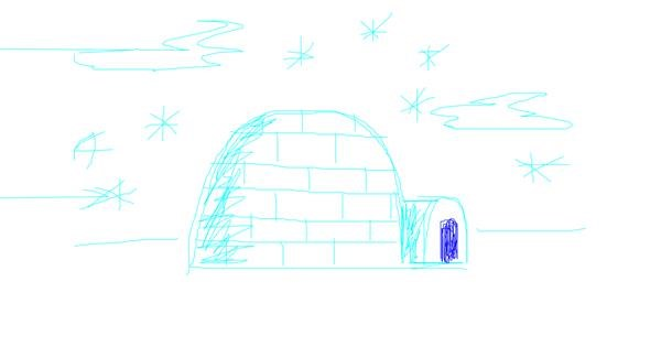 Igloo drawing by hannah