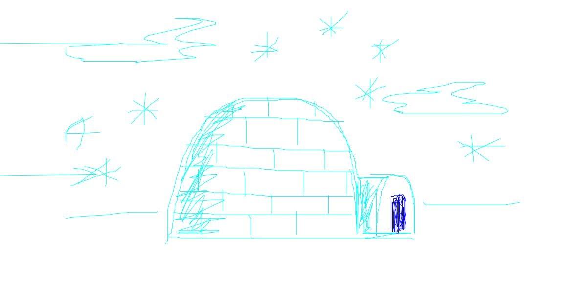Igloo drawing by hannah