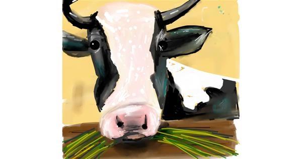 Cow drawing by Ankita Sharma