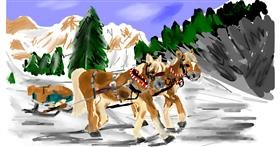 Drawing of Sleigh by Effulgent Emerald