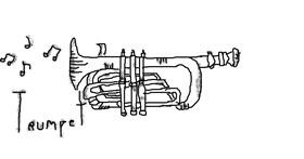 Trumpet drawing by 🌸MintGacha!🌸
