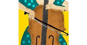 Violin drawing by Cactus