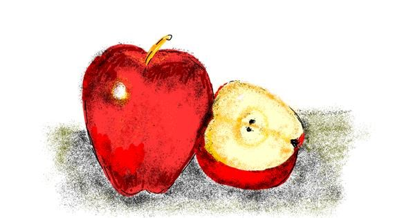 Apple drawing by Lsk