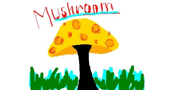 Mushroom drawing by XDyo_girl